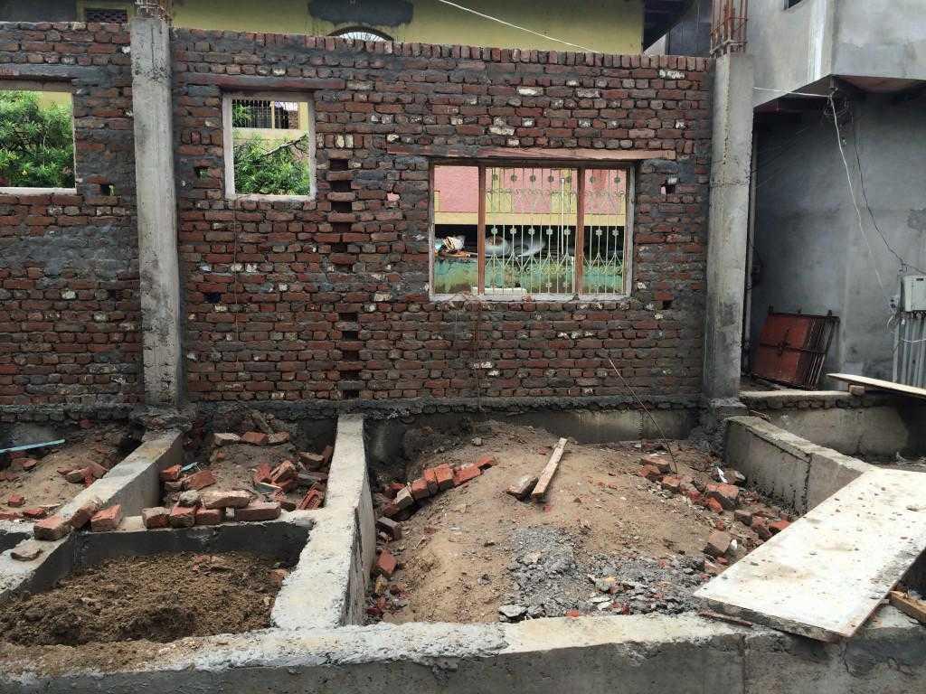 Studentenherberge für Jiva Vrindavan Schlaf- und Badezimmer