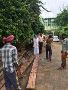 Bau der Studentenherberge für Jiva Vrindavan