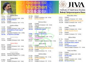 Bhakti Yoga Kalender 2018 2019